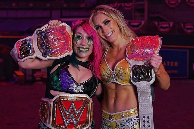 Asuka and Charlotte Flair