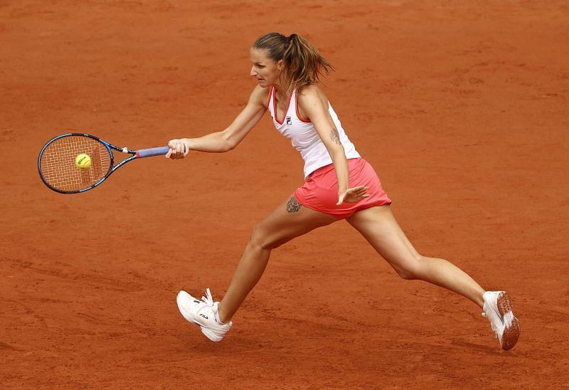 Karolina Pliskova at the 2020 French Open