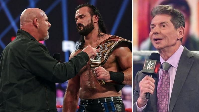 When did WWE decide that Goldberg would face Drew McIntyre?