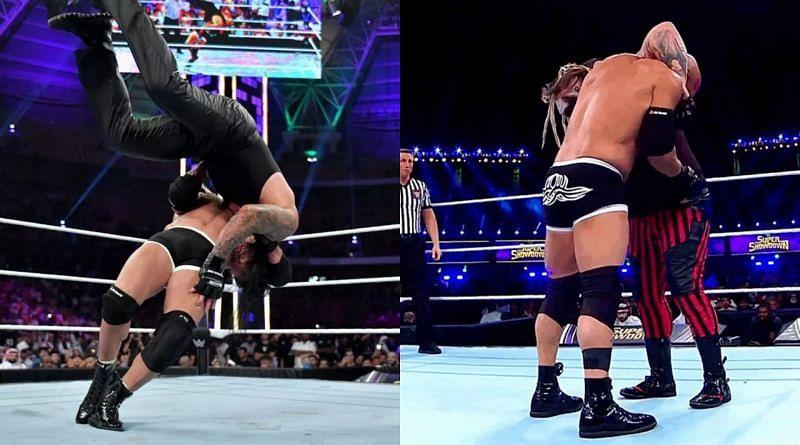 Goldberg against The Fiend Bray Wyatt.