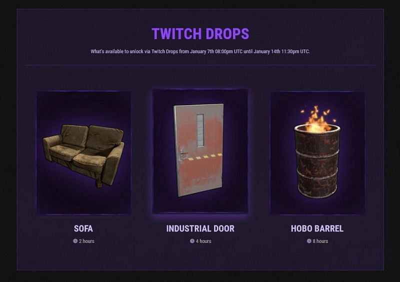 Non-streamer Rust item drops