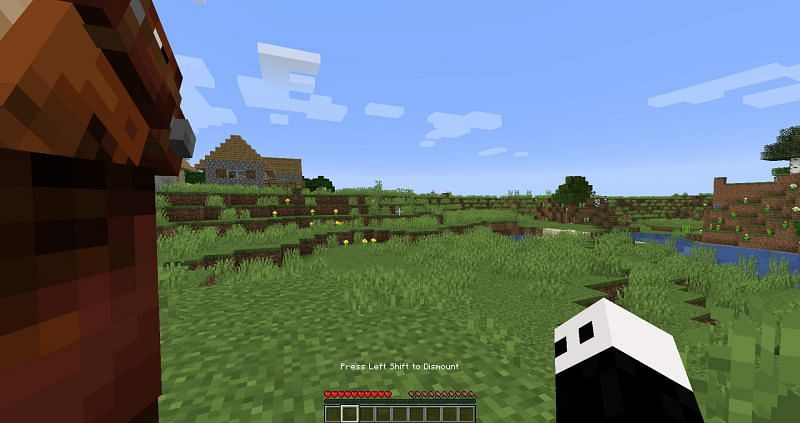 Dismounting a horse in Minecraft