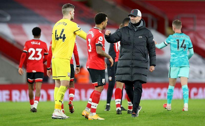 Liverpool lost to Southampton