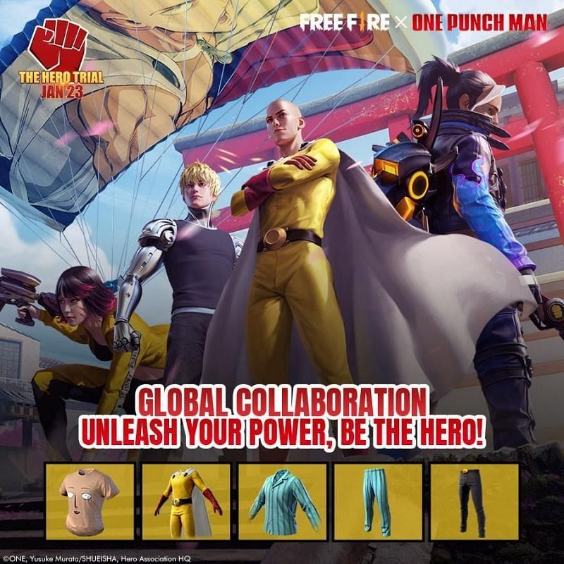 Garena Free Fire recently announced a collaboration with One Punch Man (Image via Garena)