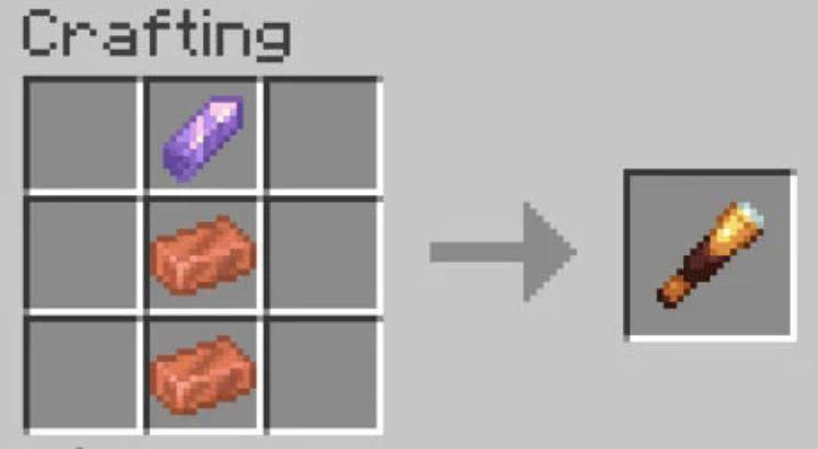 Spyglass Recipe (Image via Minecraft)