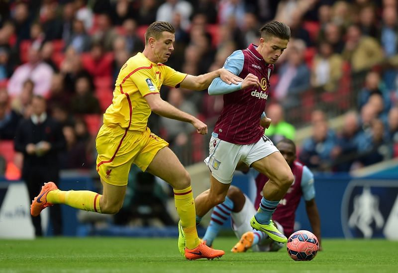 Jack Grealish impressed for Aston Villa in the 2015 FA Cup semi-final at the age of 19.