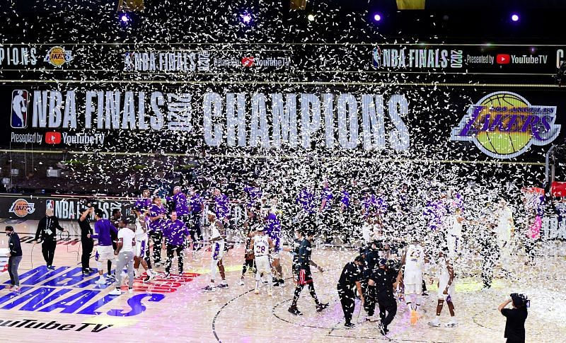 The Los Angeles Lakers are the reigning NBA Champions