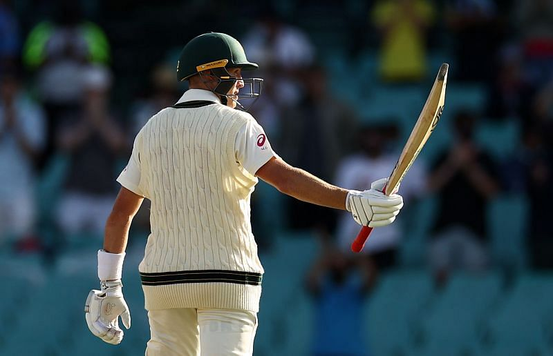 Marnus Labuschagne was dismissed for 91 on the second day of the Sydney Test.