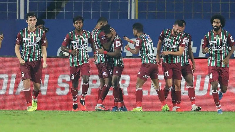ATK Mohun Bagan FC are placed on top of the ISL 2020-21 standings.