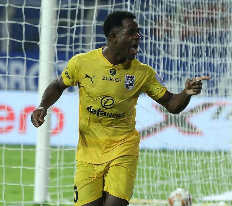Ogbeche scored his fourth goal of the season to help Mumbai City FC register a crucial victory. Courtesy: ISL