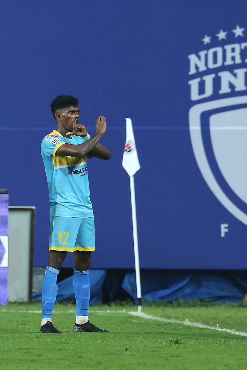 Colaco scored twice after coming on as a substitute (Image Courtesy: ISL)