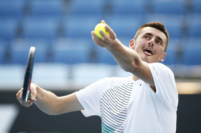 Bernard Tomic at the 2020 Australian Open qualifiers