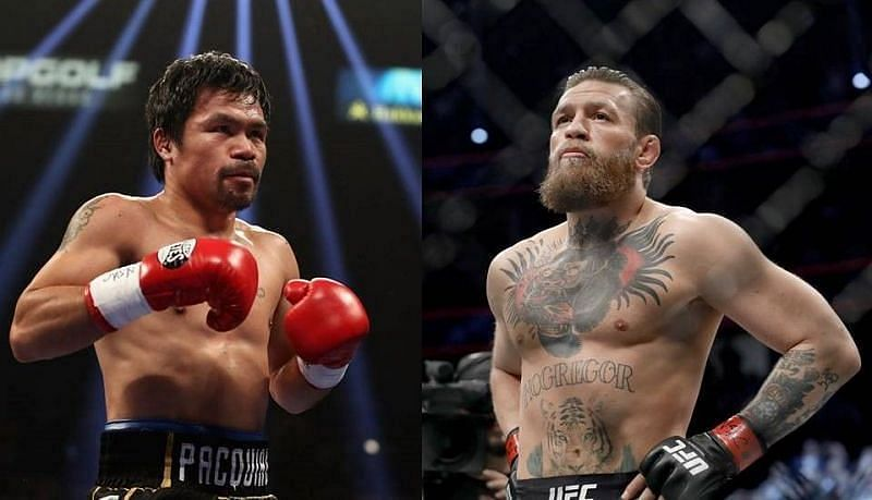 Manny Pacquiao (L) and Conor McGregor (R)