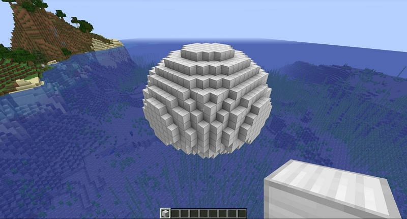 A Complete Sphere in Minecraft