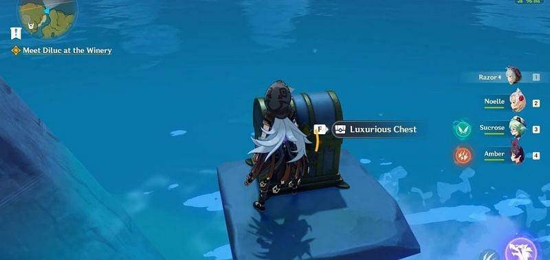 A luxurious chest in the game (Image via miHoYo)