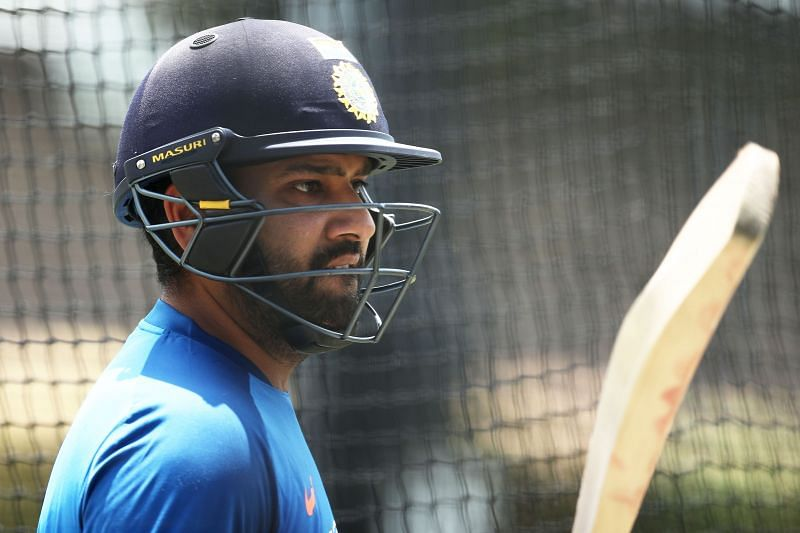 Rohit Sharma is back in training for India