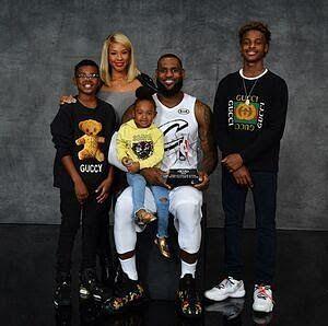LeBron and Savannah's kids