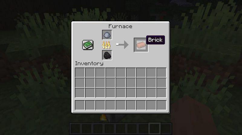 Smelting clay balls into bricks in Minecraft (Image via Minecraft)