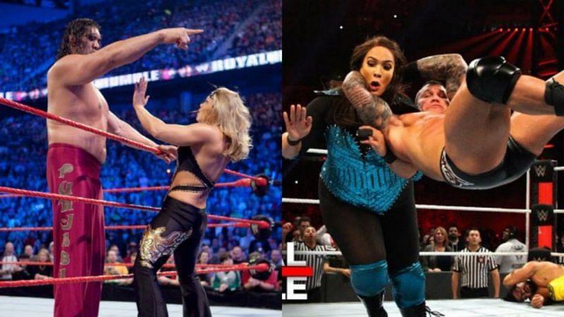 कई विमेंस स्टार्स Royal Rumble मैच में मेंस सुपरस्टार्स को एलिमिनेट कर चुकी हैं।