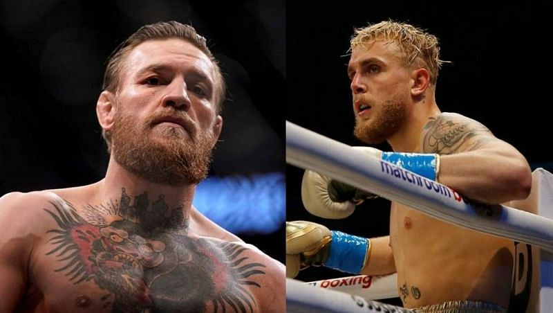 Conor McGregor (left); Jake Paul (right)