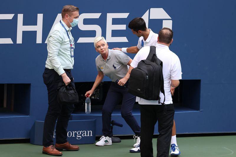 Novak Djokovic at the 2020 US Open
