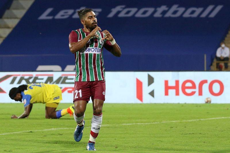Roy Krishna registered his sixth goal of the season against NorthEast United FC. Courtesy: ISL