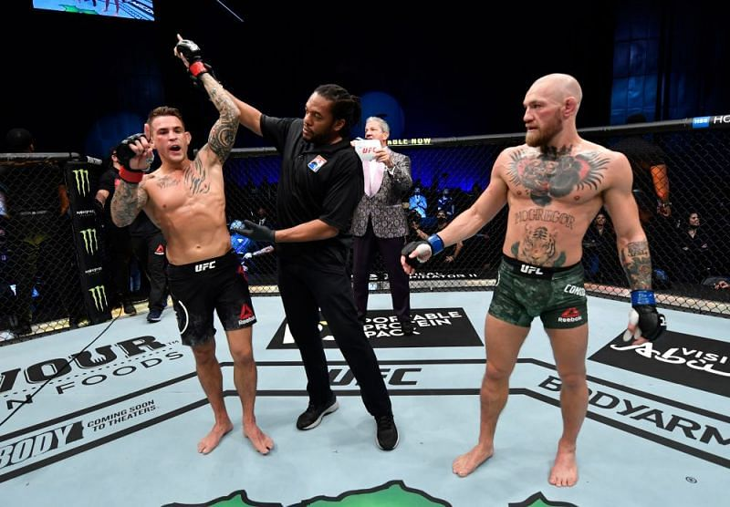 Dustin Poirier defeated Conor McGregor in the main event of UFC 257