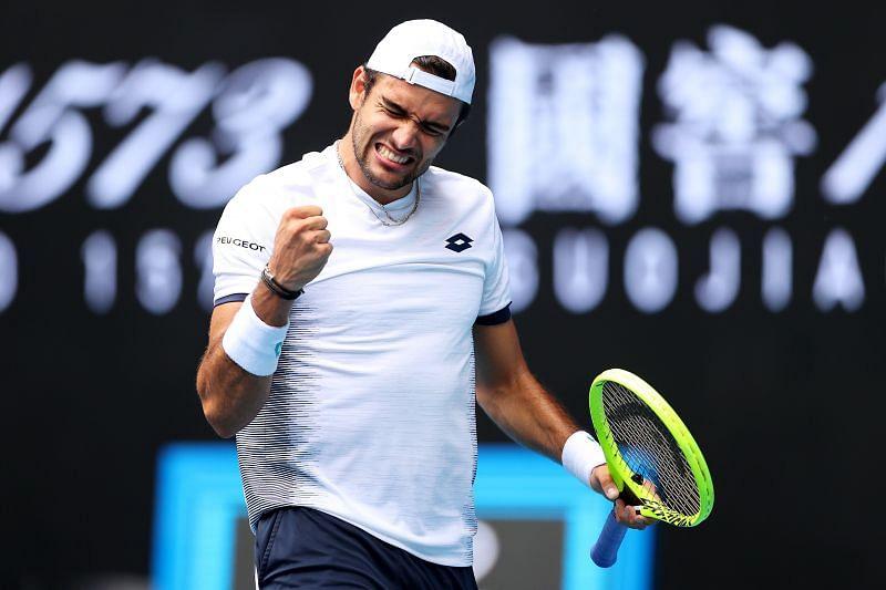 Matteo Berrettini in action at the 2020 Australian Open