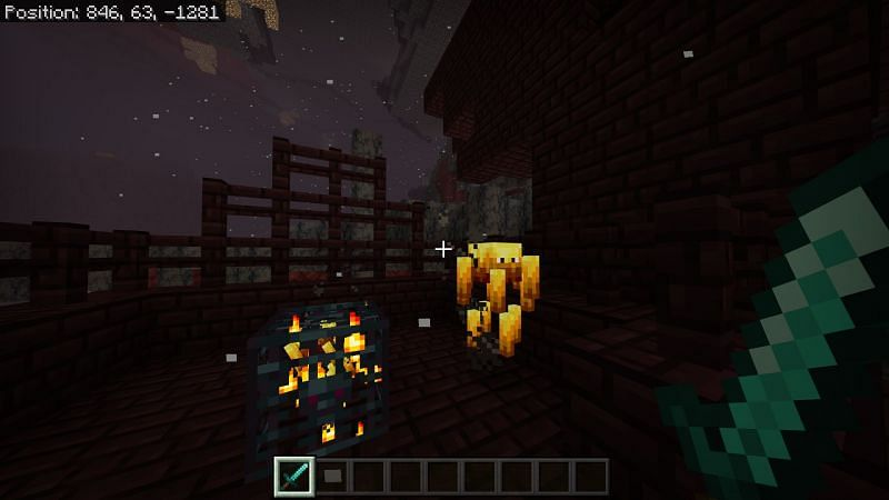 looking around for blazes or a blaze spawner in the Fortress