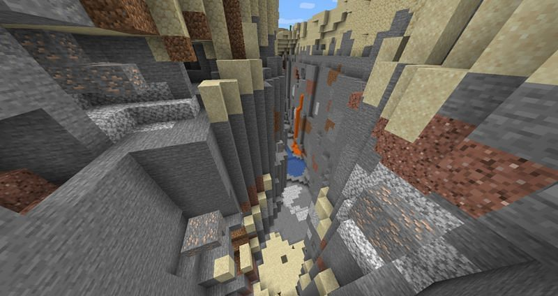 Iron remains in ore form once collected (Image via Minecraft Wiki)