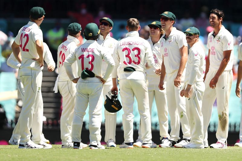 Australia have a first innings lead of 94 runs