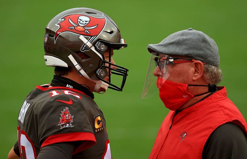 Buccaneers QB Tom Brady and Head Coach Bruce Arians will lead the team into Washington to take on the Football Team at 8:15 EST on Saturday, January 9th.t