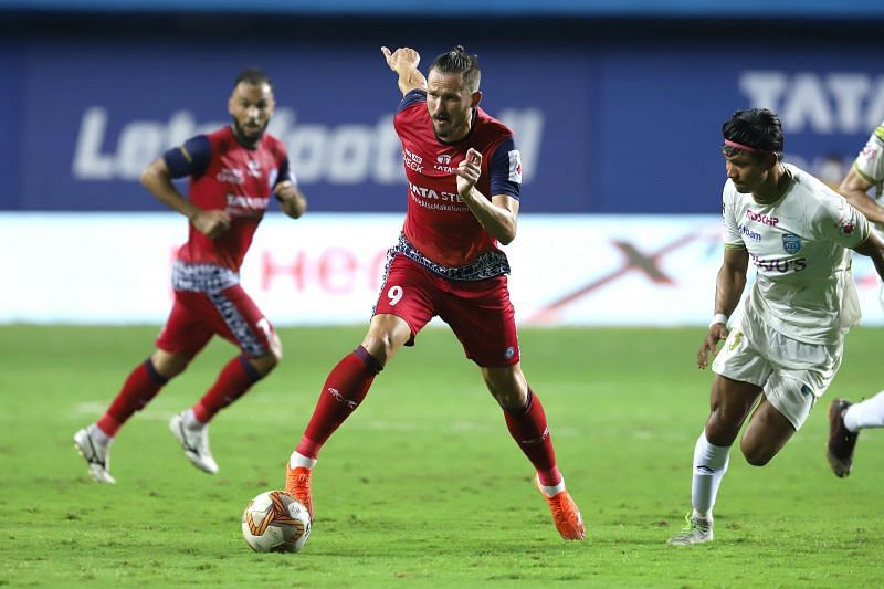 Nerijus Valskis is the top scorer of Jamshedpur FC with 8 goals from 10 ISL matches. (Image: ISL)