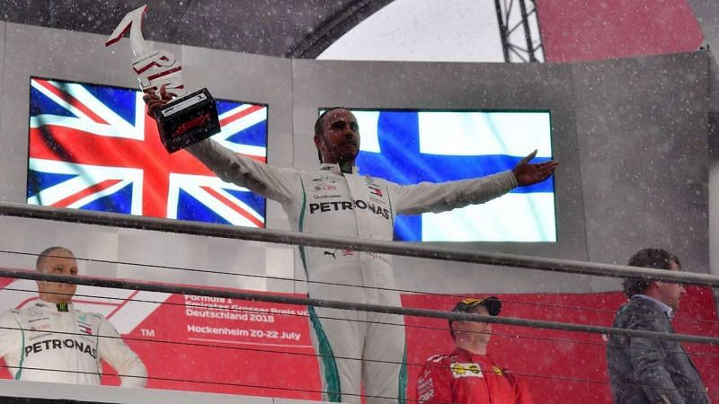 Lewis Hamilton won the German Grand Prix after starting from 14th on the grid.