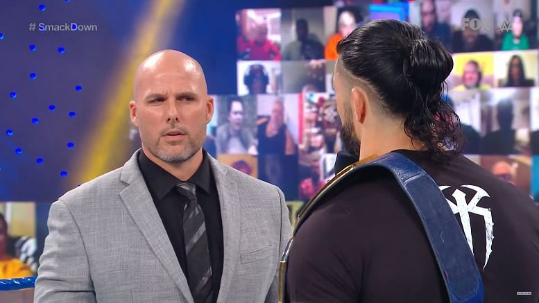 Adam Pearce is set to face Roman Reigns