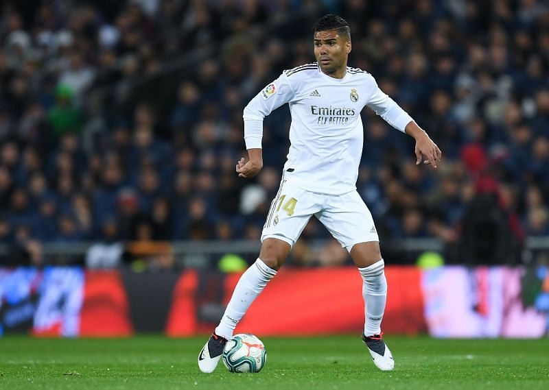 Casemiro in action for Real Madrid