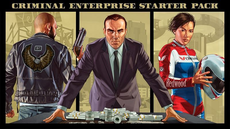 The Criminal Enterprise Starter Pack was available for free last year on the Epic Games Store (Image via Microsoft)