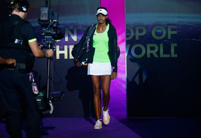 Karman Thandi enjoys playing an aggressive brand of tennis.