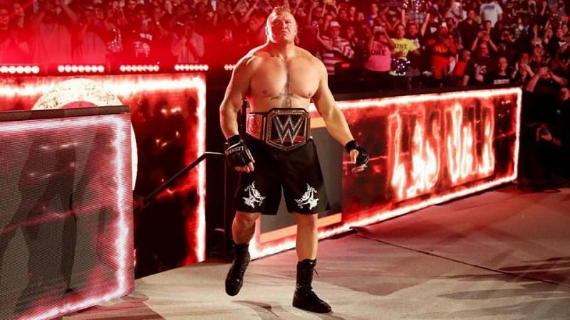 Brock Lesnar entered the WWE Royal Rumble in 2020