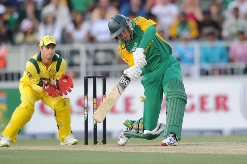 Juan Theron in action for South Africa.