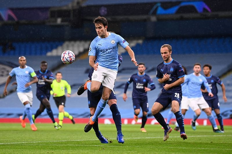 Eric Garcia in action for Manchester City in the Champions League