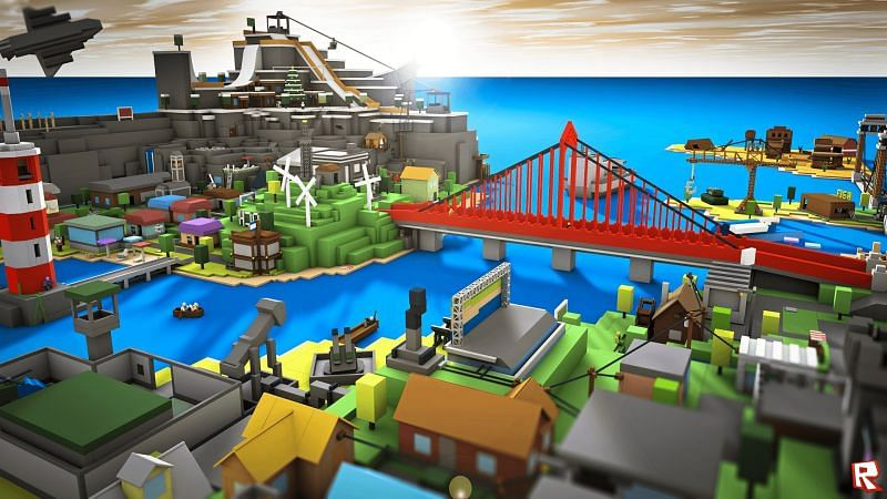 A beautiful industrial city in Roblox (Image via wallpapercave.com)