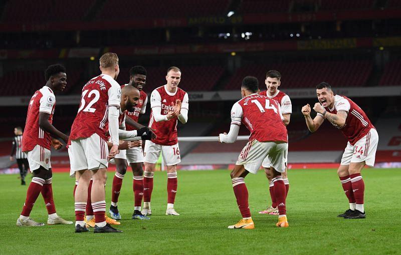 Arsenal defeated Newcastle United 3-0 on Monday