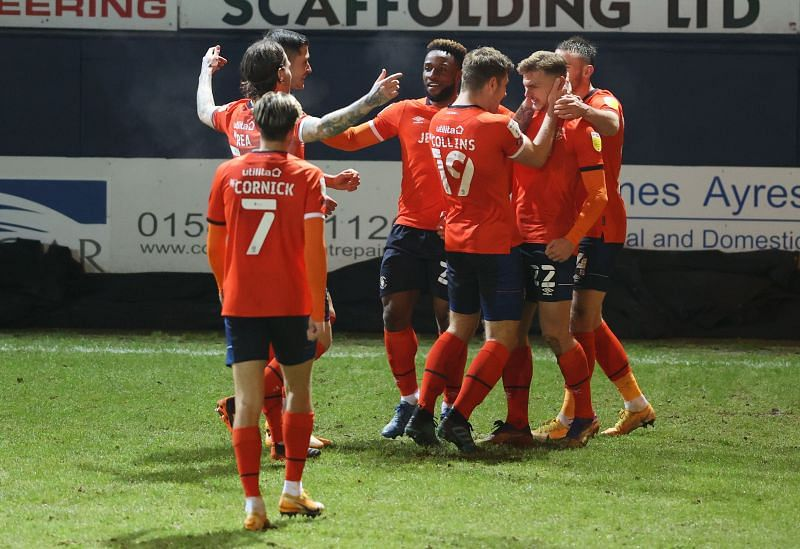 Luton Town beat Bristol City 2-1 in their last match in the Championship