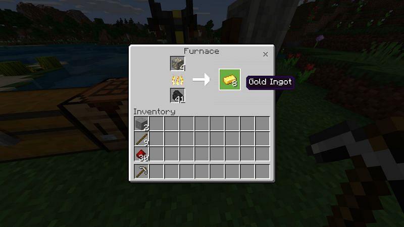 Gold Ingots in Minecraft