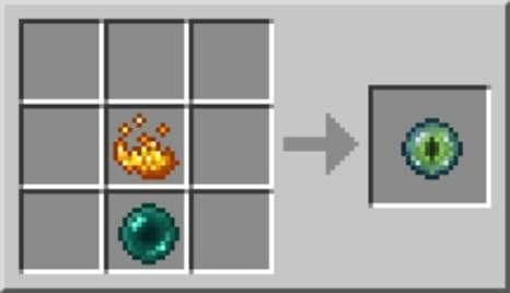 You need to gather a blaze powder and an ender pearl to craft the eye of ender in Minecraft