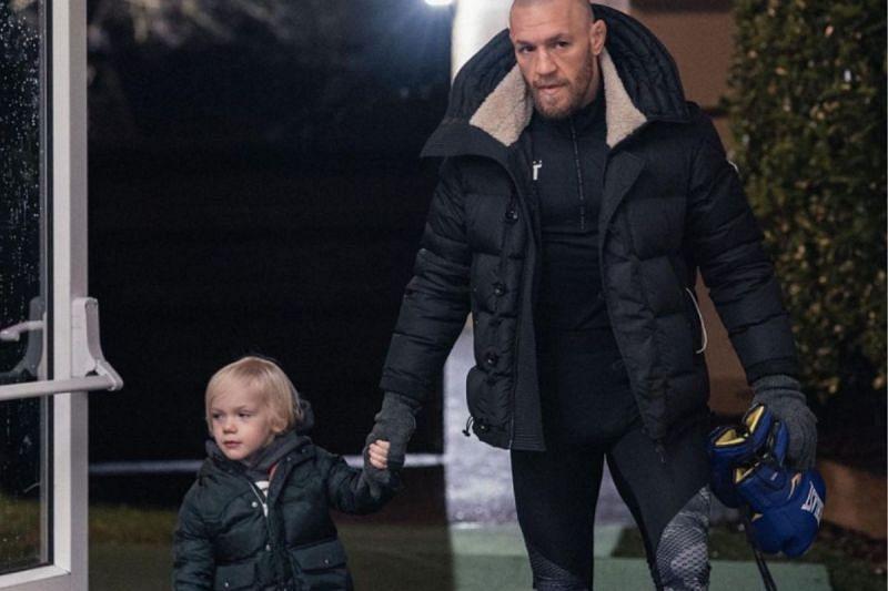 Conor McGregor with his son, Conor McGregor Jr. [Image Credit: Conor McGregor