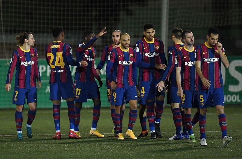 Barcelona edged Cornella to a victory