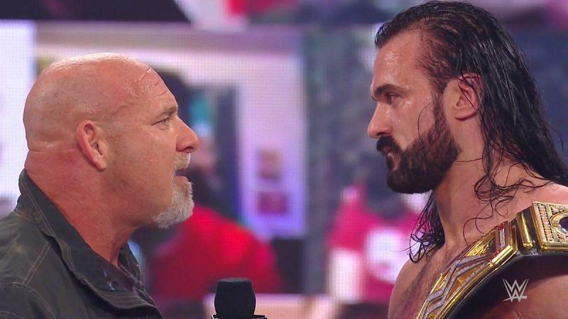 Goldberg laid down a challenge to WWE Champion Drew McIntyre