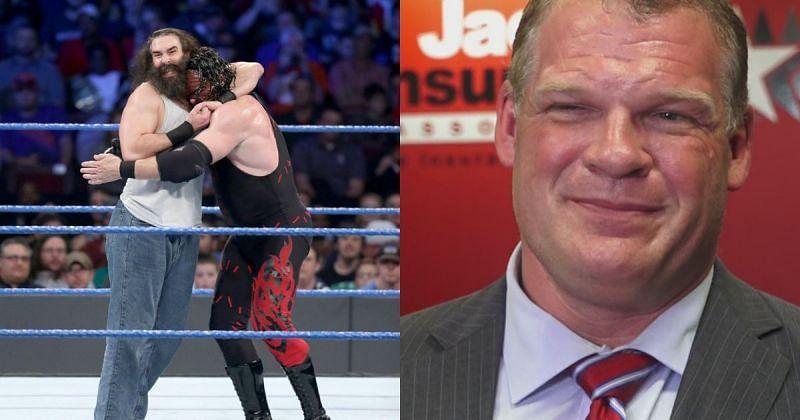 Kane faced Luke Harper in the WWE.
